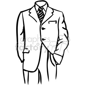 office business suit 058 clipart. Royalty-free image # 386045