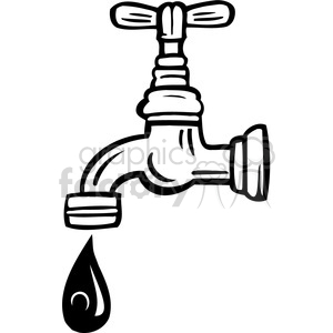 eco environment illustration logo symbols elements earth water faucet black+white