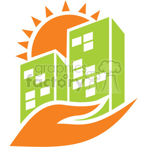 human eco city 038 clipart. Commercial use image # 386145