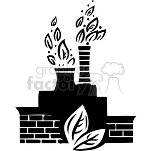 eco friendly factory 029 clipart. Royalty-free image # 386155