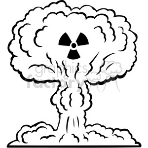nuclear explosion war 080 clipart. Royalty-free image # 386185