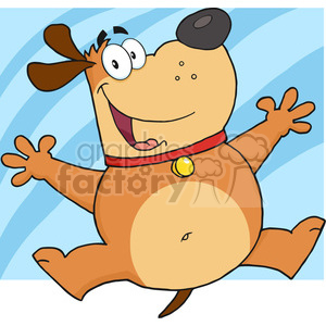 5231-Happy-Fat-Dog-Jumping-Royalty-Free-RF-Clipart-Image clipart. Royalty-free image # 386194
