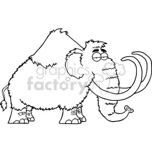 5108-Mammoth-Cartoon-Character-Royalty-Free-RF-Clipart-Image clipart. Royalty-free image # 386254