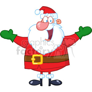 5155-Jolly-Santa-Claus-With-Open-Arms-Royalty-Free-RF-Clipart-Image clipart. Royalty-free image # 386324