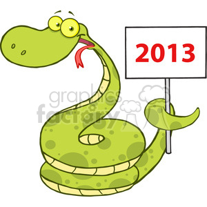 5149-Happy-Snake-Cartoon-Character-Holding-Up-A-Blank-Sign-Royalty-Free-RF-Clipart-Image clipart. Royalty-free image # 386364