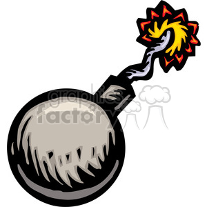 bomb with wick clipart. Royalty-free image # 173694