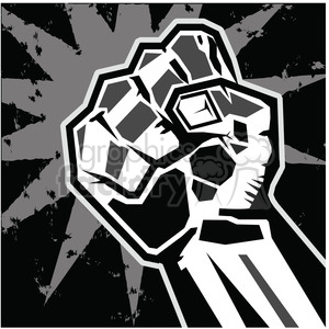 fist rebellion uprising insurrection illustration art black clipart. Royalty-free image # 386460