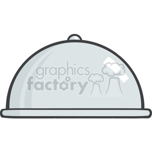 Silver Chef Platter clipart. Commercial use image # 386560