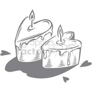 two love cakes clipart. Royalty-free image # 386629