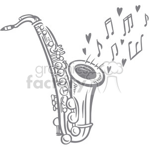sax playing a love song clipart. Royalty-free image # 386639