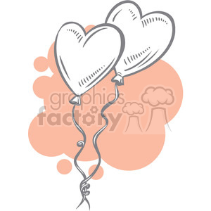 balloons of love clipart. Royalty-free image # 386659