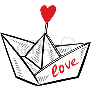 paper love boat clipart. Commercial use image # 386679