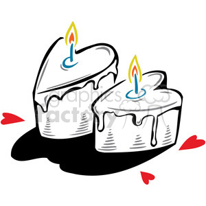 cakes shaped like hearts clipart. Royalty-free image # 386689
