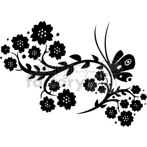 Chinese swirl floral design 090 clipart. Commercial use image # 386727