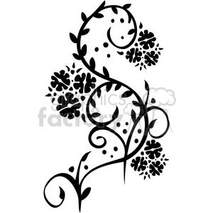Chinese swirl floral design 049 clipart. Commercial use image # 386767