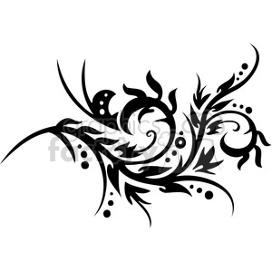 Chinese swirl floral design 006 clipart. Commercial use image # 386787