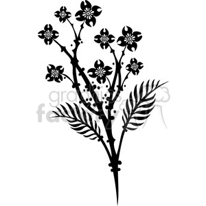 Chinese swirl floral design 068 clipart. Commercial use image # 386797