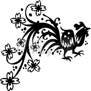 Chinese swirl floral design 073 clipart. Commercial use image # 386807