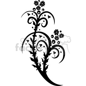 Chinese swirl floral design 092 clipart. Royalty-free image # 386817