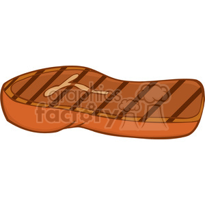 Clipart of Grilled Steak clipart. Royalty-free icon # 386857