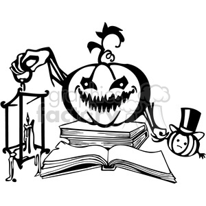 Halloween clipart illustrations 009 clipart. Royalty-free image # 387087