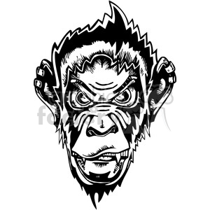 chimpanzee design clipart. Royalty-free image # 387108