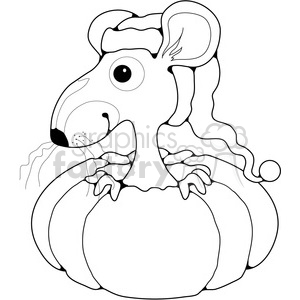 Mouse in Pumpkin clipart. Royalty-free image # 387218