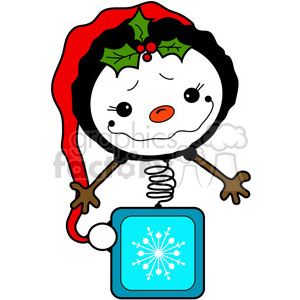 Snowman Bobblehead in color clipart. Royalty-free image # 387258