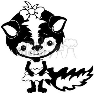 Skunk 1 clipart. Commercial use image # 387288