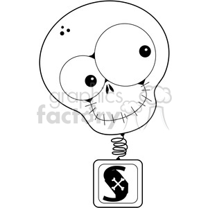 Skull Bobble Head clipart. Royalty-free image # 387298