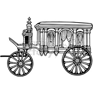 Antique Hearse 2 clipart. Royalty-free image # 387365