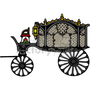 Antique Hearse 1 in color clipart. Royalty-free image # 387411