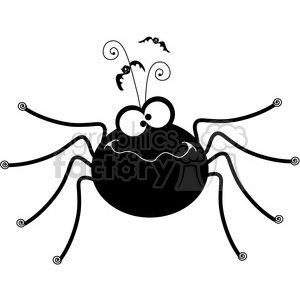 Halloween Spider clipart. Royalty-free image # 387422