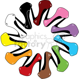 High Heels Shoe of Every Color