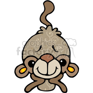 01 Monkey COL clipart. Commercial use image # 387537