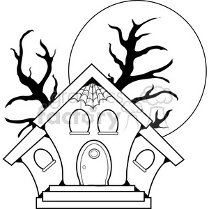 Haunted House clipart. Commercial use image # 387628