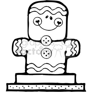 Smore Gingerbread Man clipart. Royalty-free image # 387697