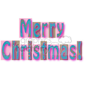 Merry Christmas Word clipart. Royalty-free image # 387707