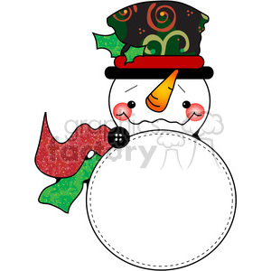 Snowman 01 clipart. Commercial use image # 387746