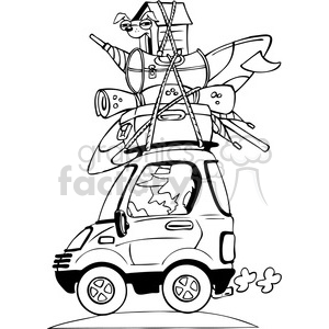 vacation travel clipart bw clipart. Commercial use image # 387775