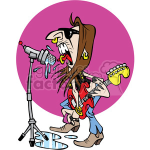 cartoon rockstar clipart. Commercial use image # 387834
