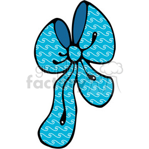 blue swirl Bow clipart clipart. Commercial use image # 387987