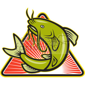 catfish jump MP DIA clipart. Commercial use image # 388113