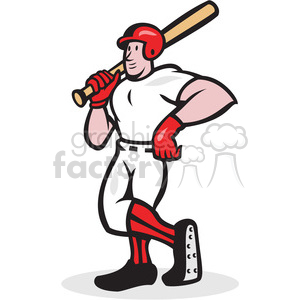 baseball player standing shield clipart. Royalty-free image # 388123