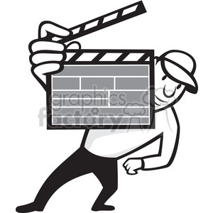 black and white director clipboard front clipart. Commercial use image # 388183