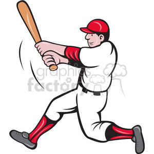 baseball batter swinging clipart clipart. Royalty-free image # 388343
