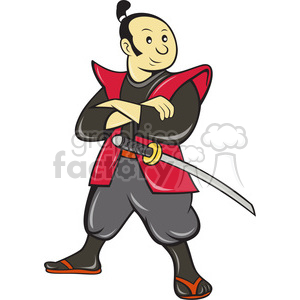 samurai arms folded clipart. Royalty-free image # 388461
