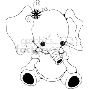 Stuffed Elephant clipart. Royalty-free image # 388571