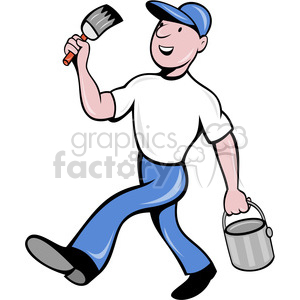 painter with bucket clipart. Commercial use image # 388651