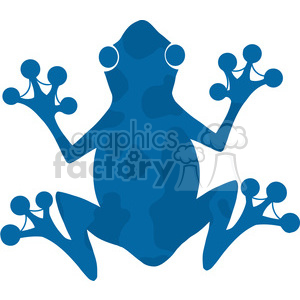 5641 Royalty Free Clip Art Blue Frog Silhouette Logo clipart. Royalty-free image # 388671